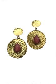 Beth Friedman Coral Chalcedony Earrings - Front cropped