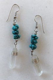 Beth Friedman Quartz Crystal Turquoise Earrings - Product Mini Image
