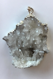 Beth Friedman Quartz Crystals Pendant - Front full body