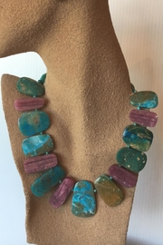 Beth Friedman Rubellite Opal Necklace - Front full body