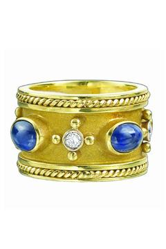 Shoptiques Product: Diamond&Sapphire Gold Ring