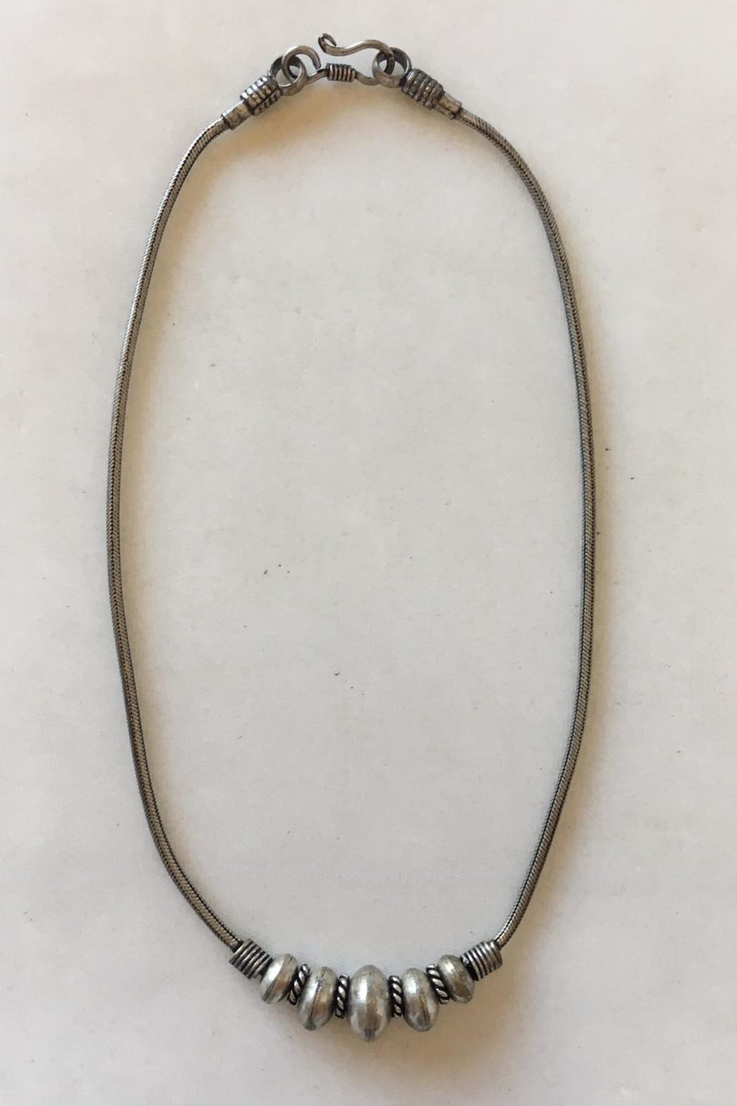 Beth Friedman Silver Beaded Necklace - Main Image