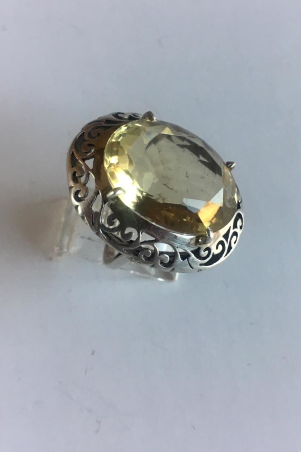 Beth Friedman Sterling Silver And Lemon Quartz Ring - Front Cropped Image