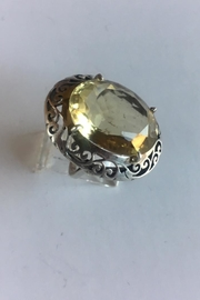 Beth Friedman Sterling Silver And Lemon Quartz Ring - Front cropped