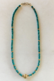 Beth Friedman Turquoise Gold Necklace - Product Mini Image