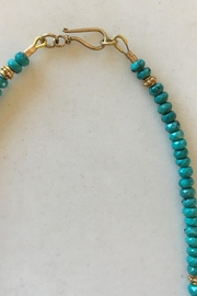 Beth Friedman Turquoise Gold Necklace - Back cropped