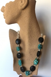 Beth Friedman Turquoise, Black Lava & Quartz Necklace - Product Mini Image