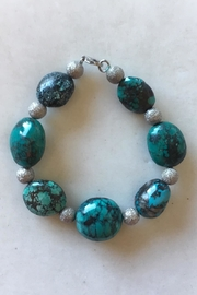 Beth Friedman Turquoise Sterling Bracelet - Product Mini Image
