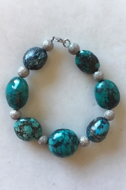 Beth Friedman Turquoise Sterling Silver Bracelet - Product Mini Image