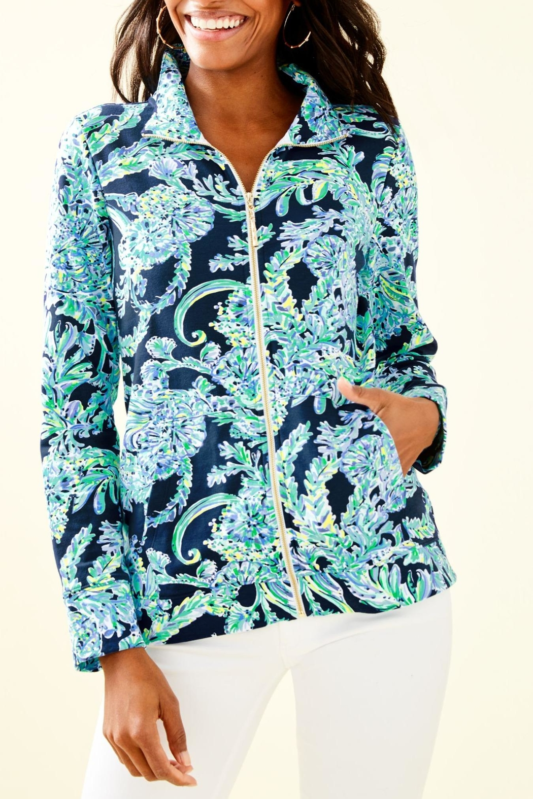 Lilly Pulitzer Betsey Zip-Up Popover - Main Image