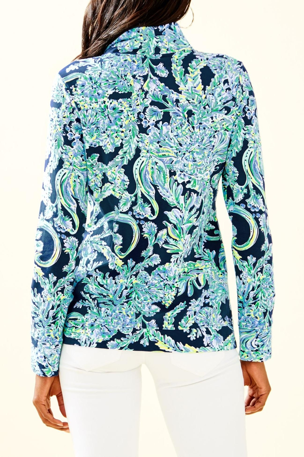 Lilly Pulitzer Betsey Zip-Up Popover - Front Full Image