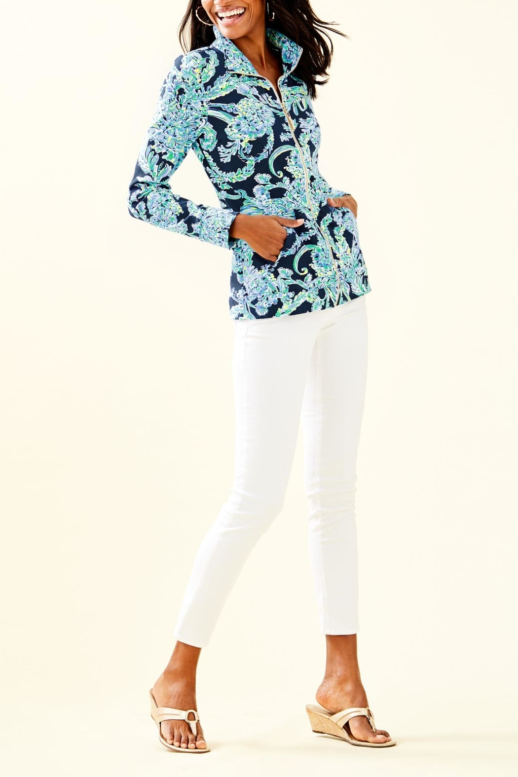 Lilly Pulitzer Betsey Zip-Up Popover - Side Cropped Image