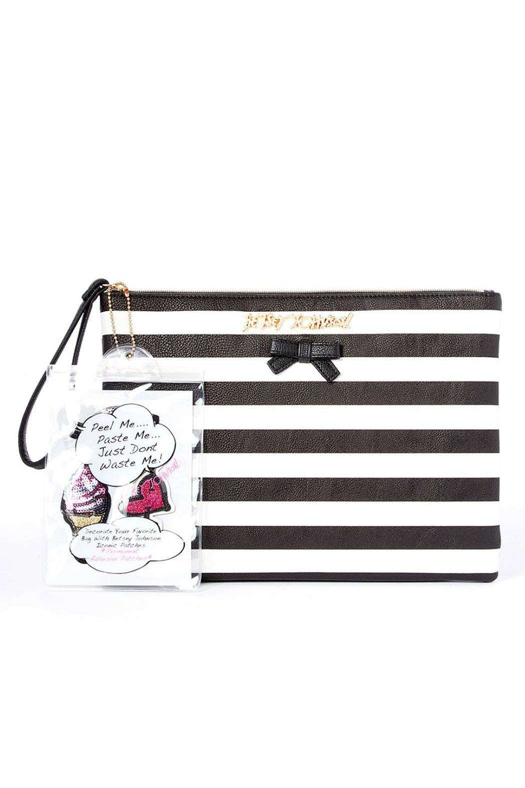 Betsey Johnson Sticky Situation Wristlet - Front Full Image