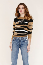 Heartloom Bette Tan Camo Sweater - Product Mini Image