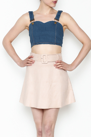 Better Be Denim Crop Top - Front cropped