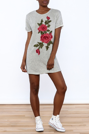Better Be Grey Embroidered Dress - Front full body