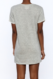 Better Be Grey Embroidered Dress - Back cropped