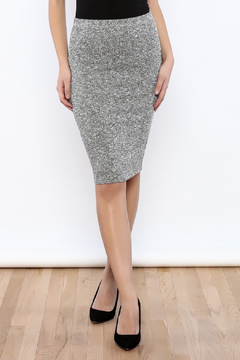 Shoptiques Product: Gray Ribbed Pencil Skirt