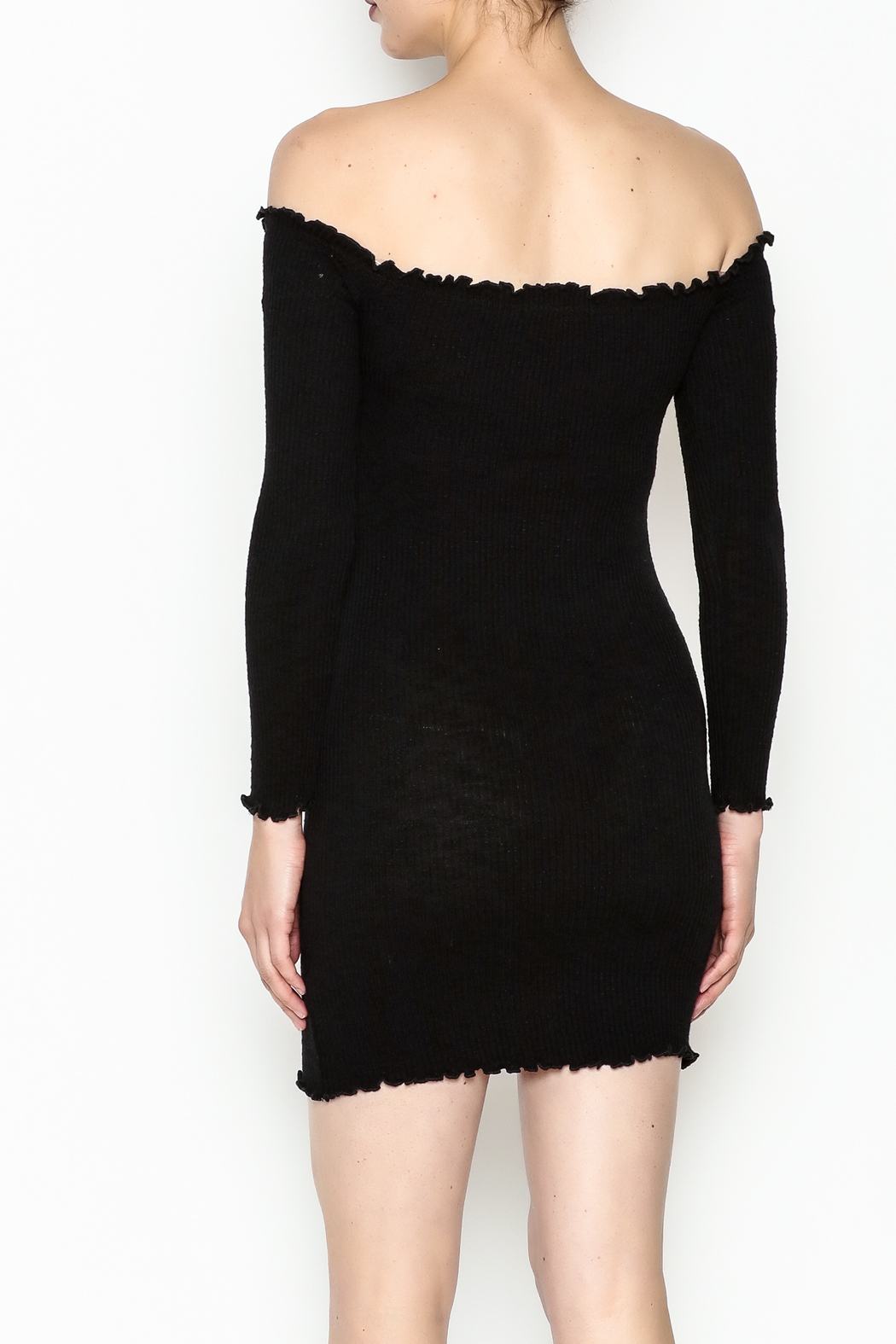 Better Be Long Sleeve Dress - Back Cropped Image