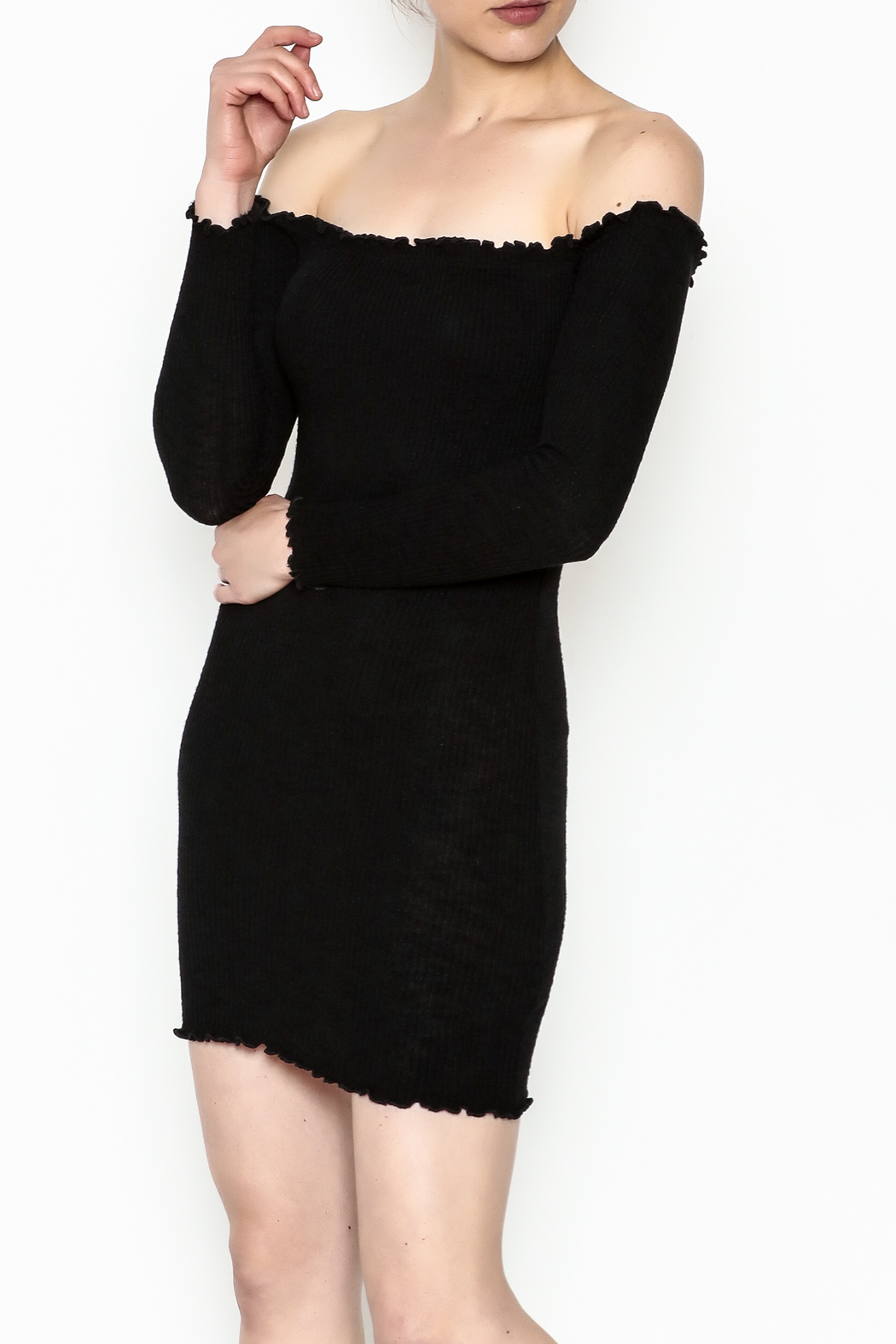 Better Be Long Sleeve Dress - Front Cropped Image
