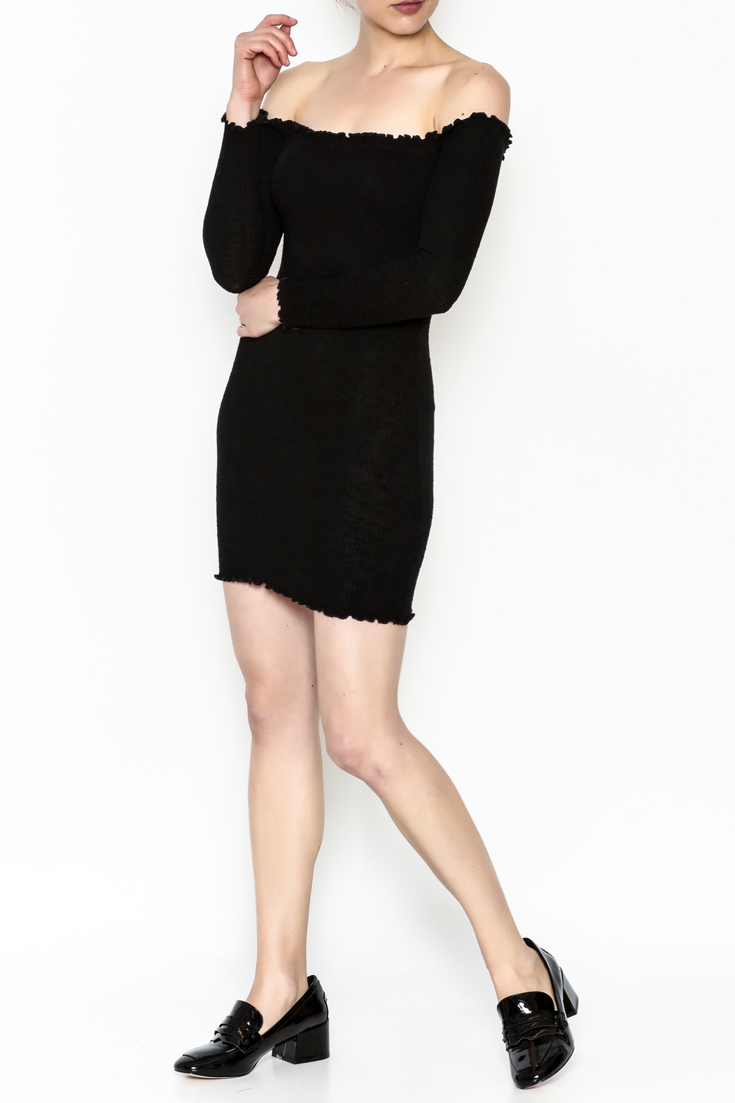 Better Be Long Sleeve Dress - Side Cropped Image