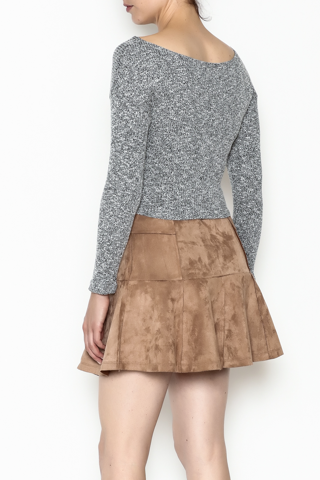 Better Be Long Sleeve Wrap Top - Back Cropped Image