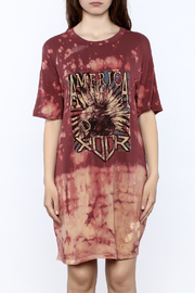 Shoptiques Product: Print Shirt Dress - Side cropped