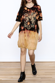 Better Be Print Shirt Dress - Front full body