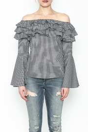 Better Be Ruffle Bell Sleeve Top - Front full body