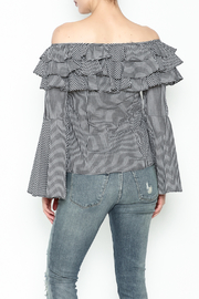 Better Be Ruffle Bell Sleeve Top - Back cropped