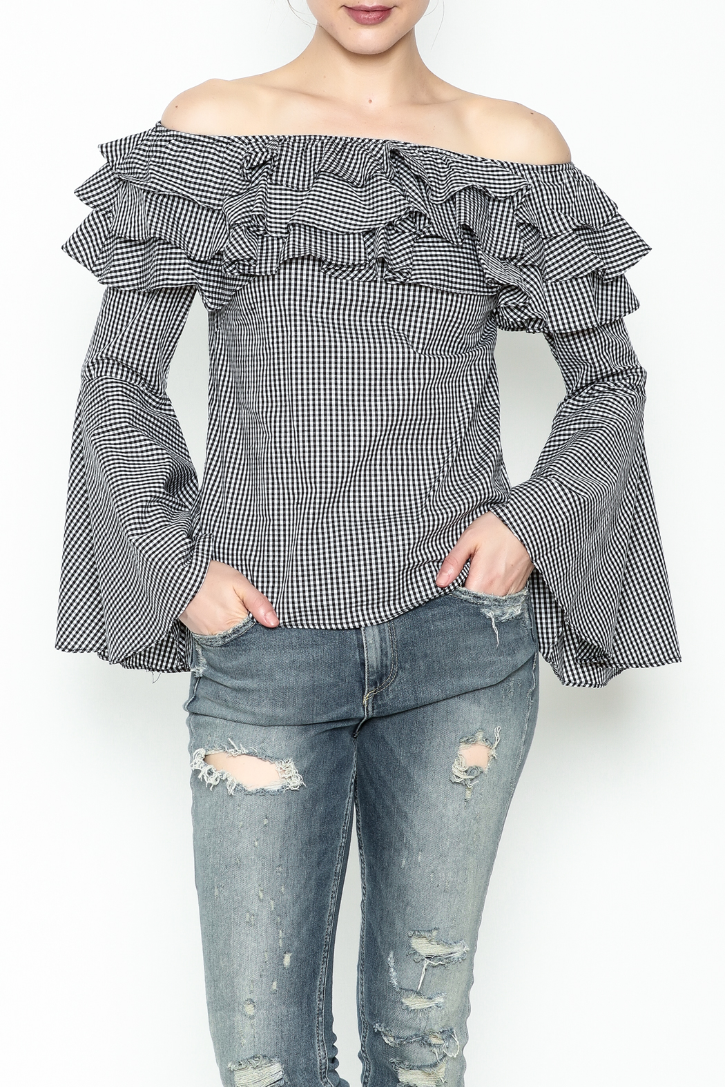 Better Be Ruffle Bell Sleeve Top - Main Image