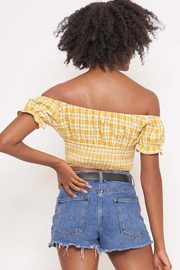 Better Be Checkered Off-The-Shoulder Top - Side cropped