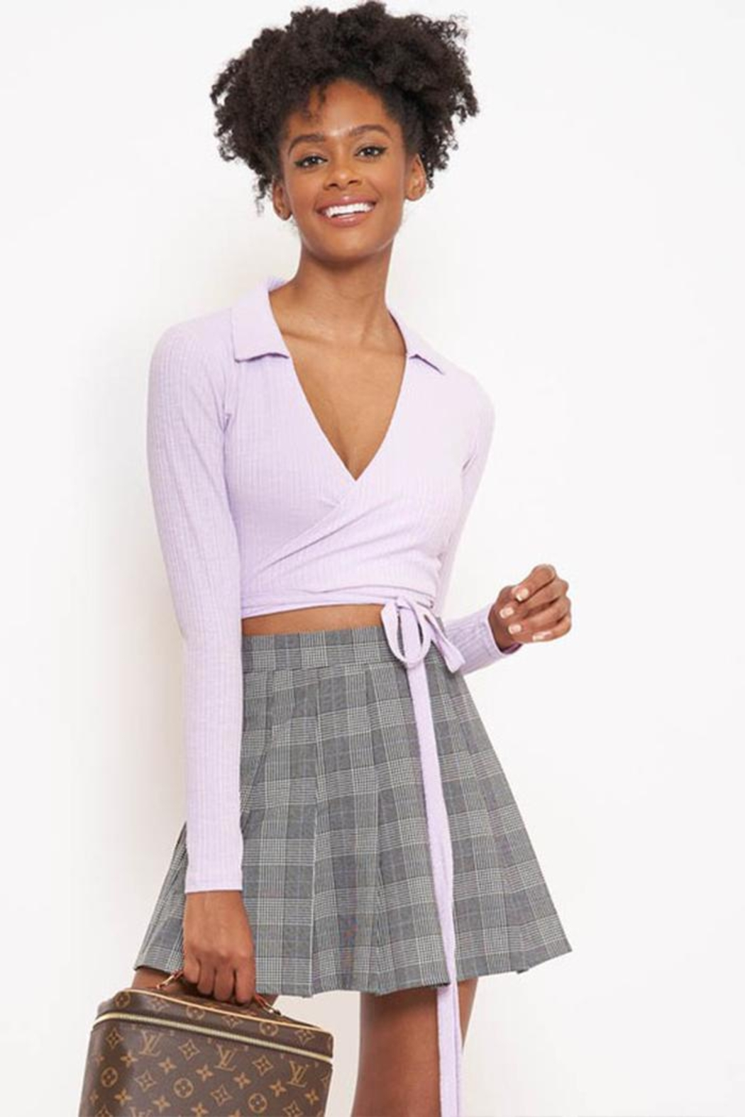 Better Be Collar Wrap Top - Side Cropped Image