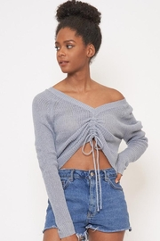 Better Be Front Ruched Knit-Top - Side cropped