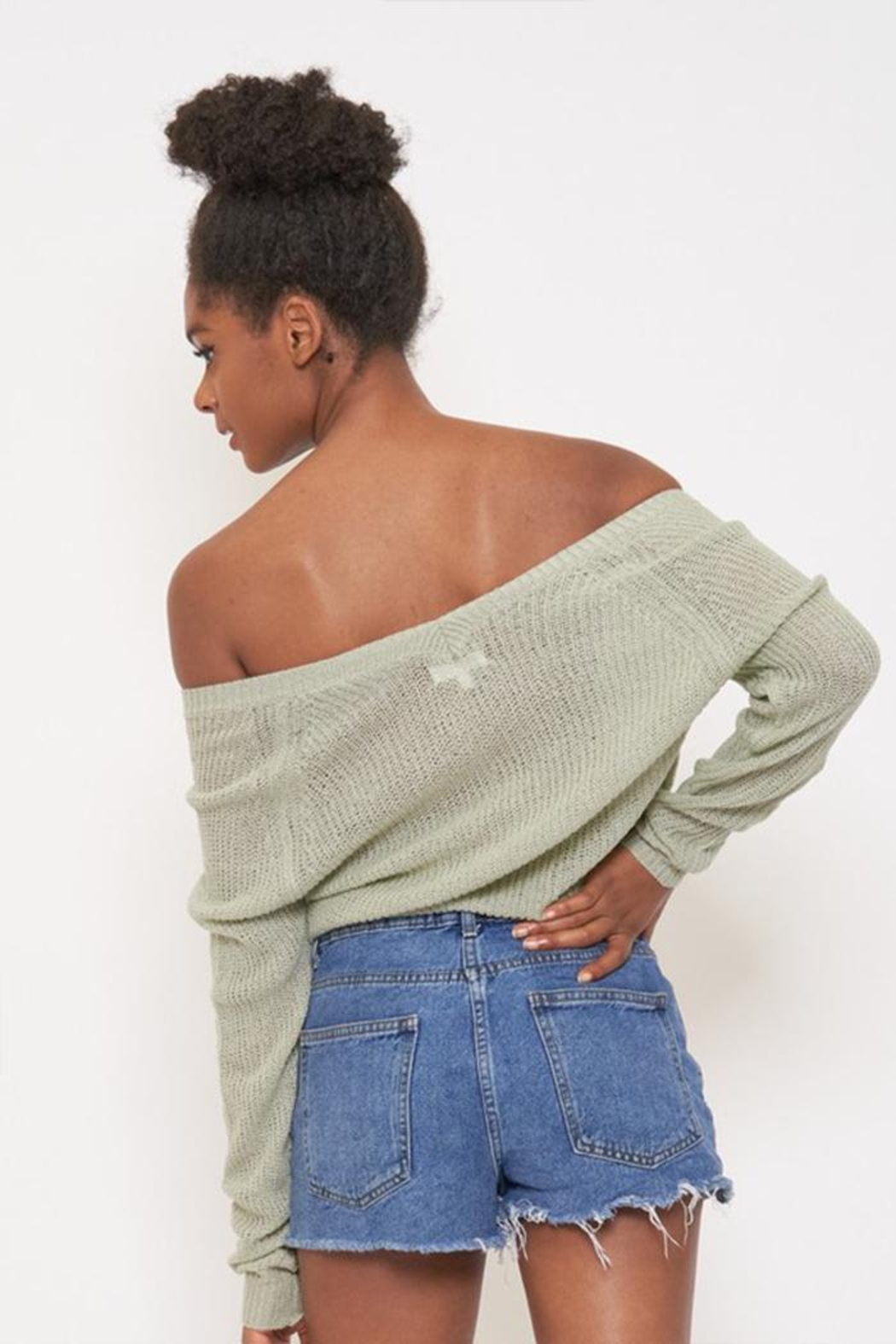 Better Be Front Ruched Knit-Top - Side Cropped Image
