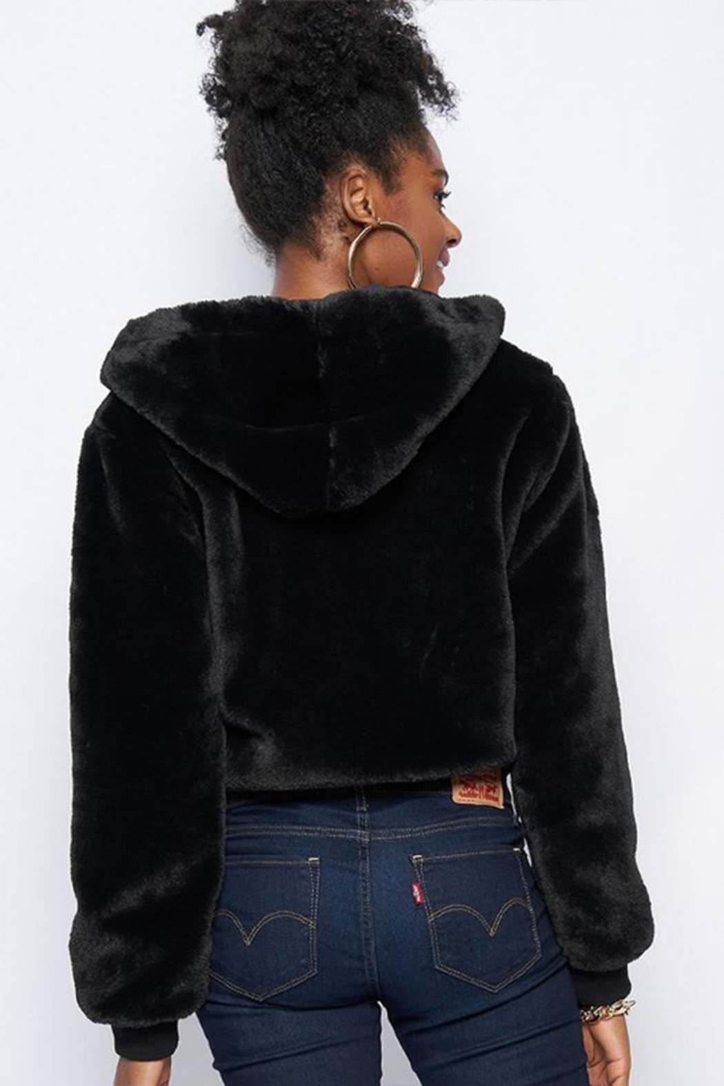 Better Be Fur Hoodie Jacket - Front Full Image