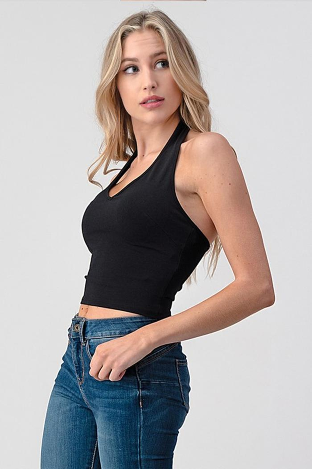 Better Be Halter Crop Top - Front Full Image