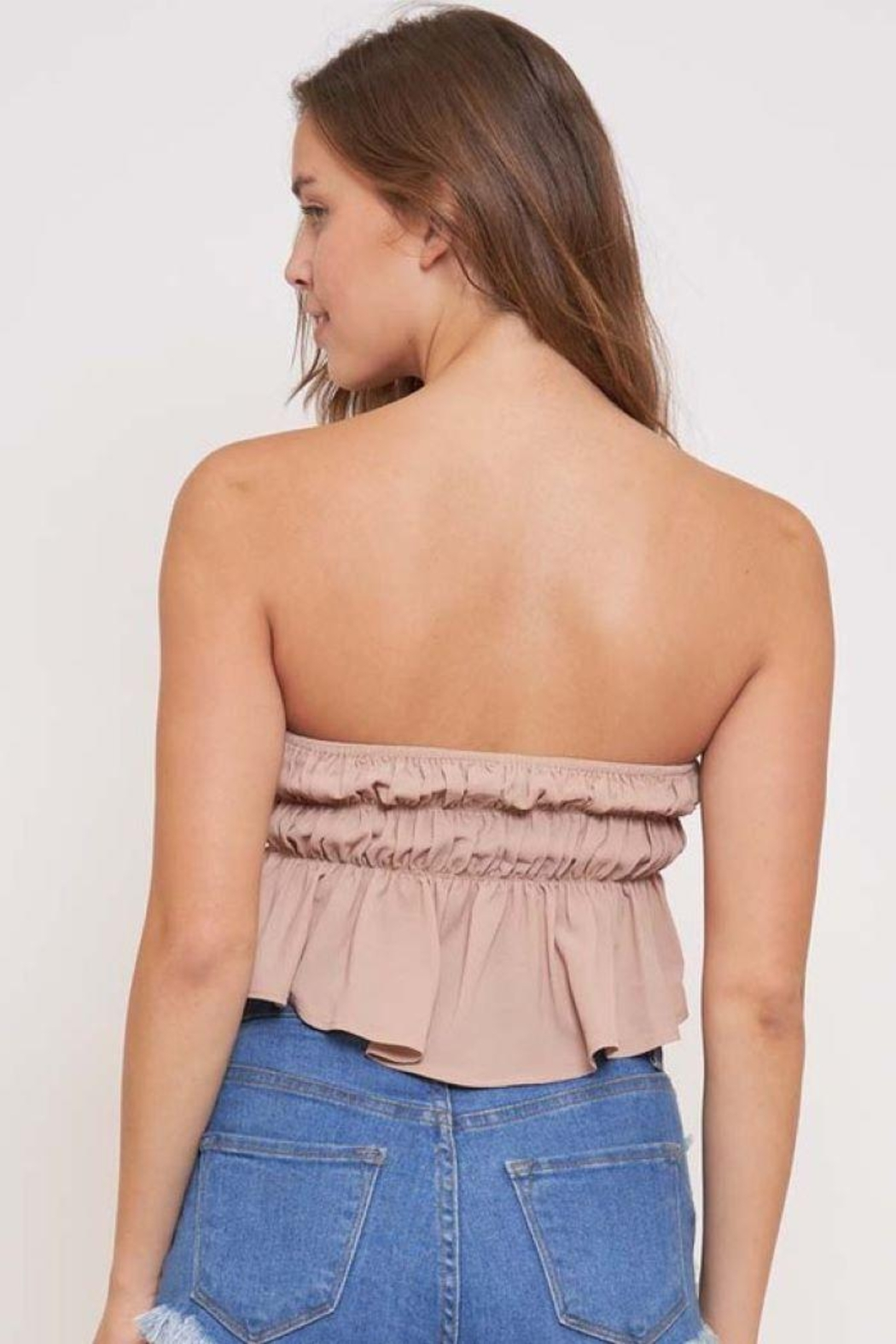 Better Be In The Groove Bubble Tube Top - Back Cropped Image