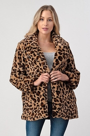 Better Be Leopard Print Jacket - Front cropped