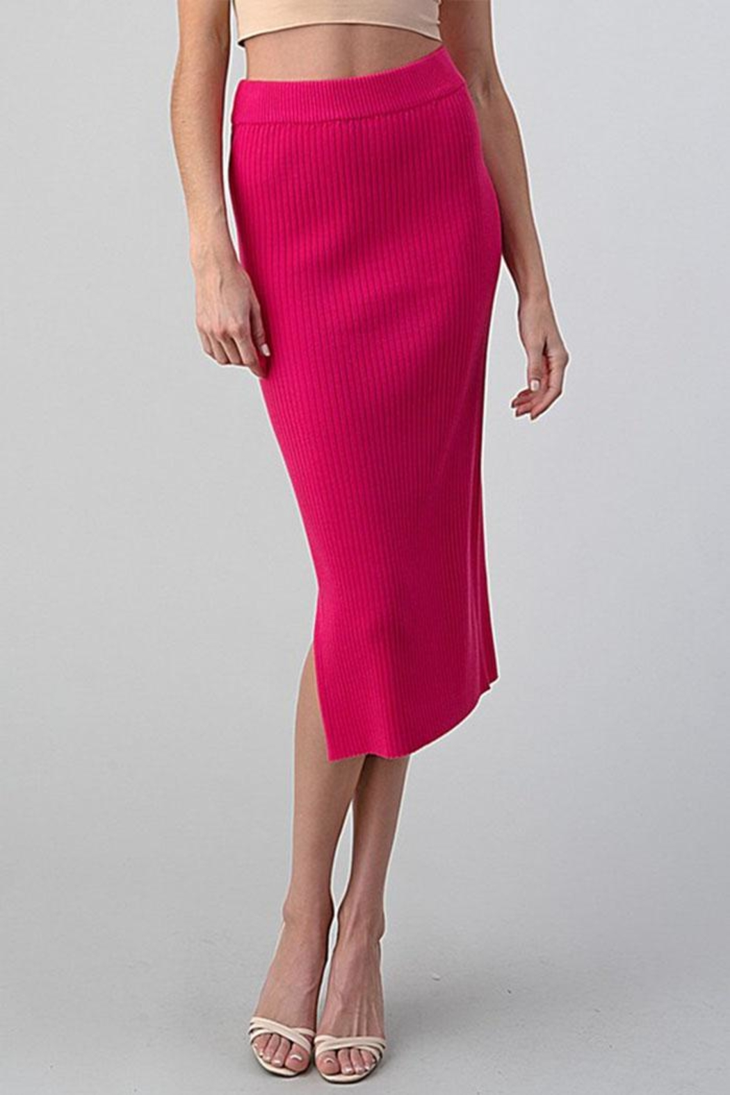 Better Be Long Knit Skirt - Front Cropped Image
