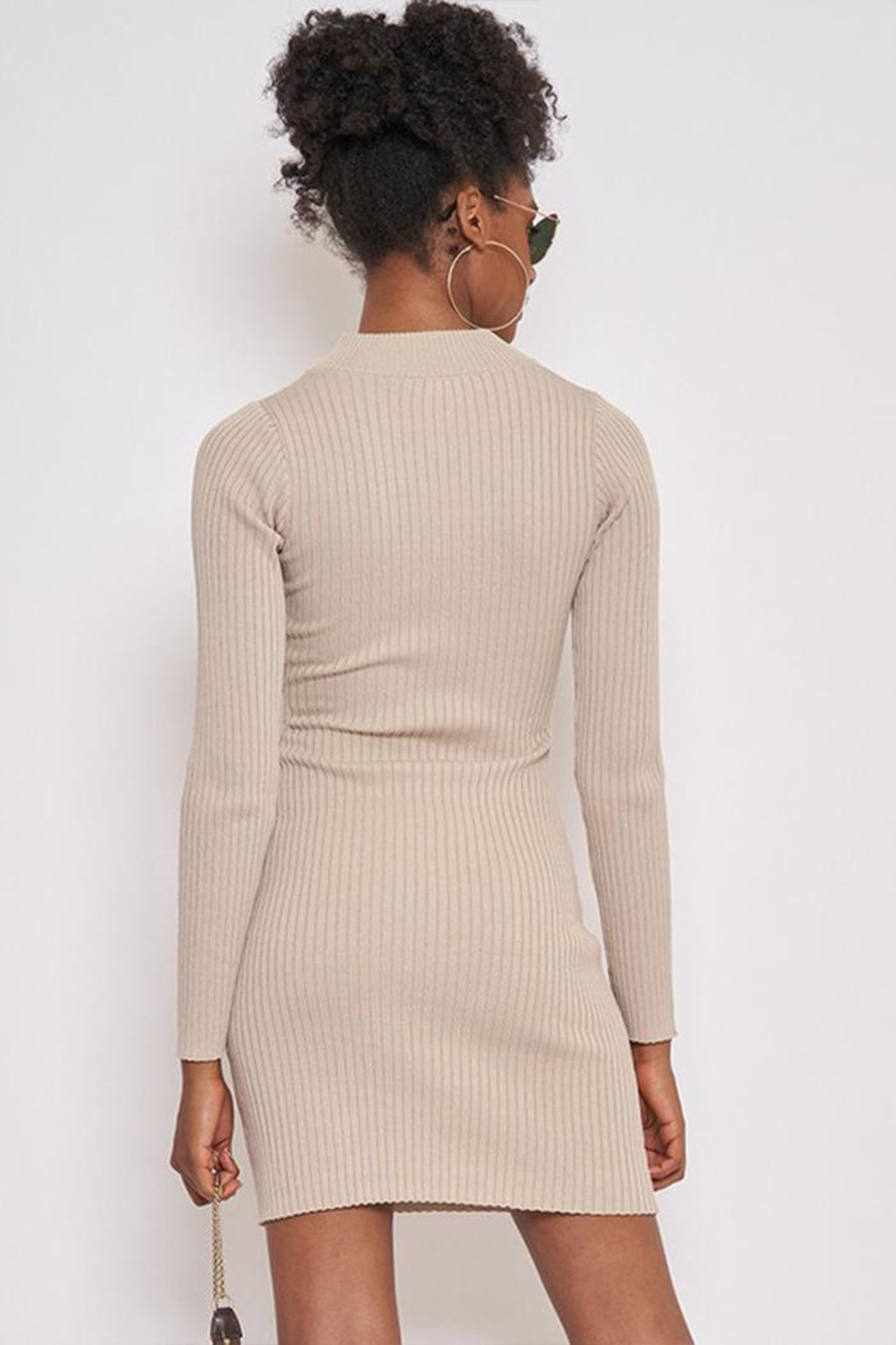 Better Be Long-Sleeve Ribbed Dress - Side Cropped Image