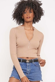 Better Be Long Sleeve Ribbed Top - Front full body