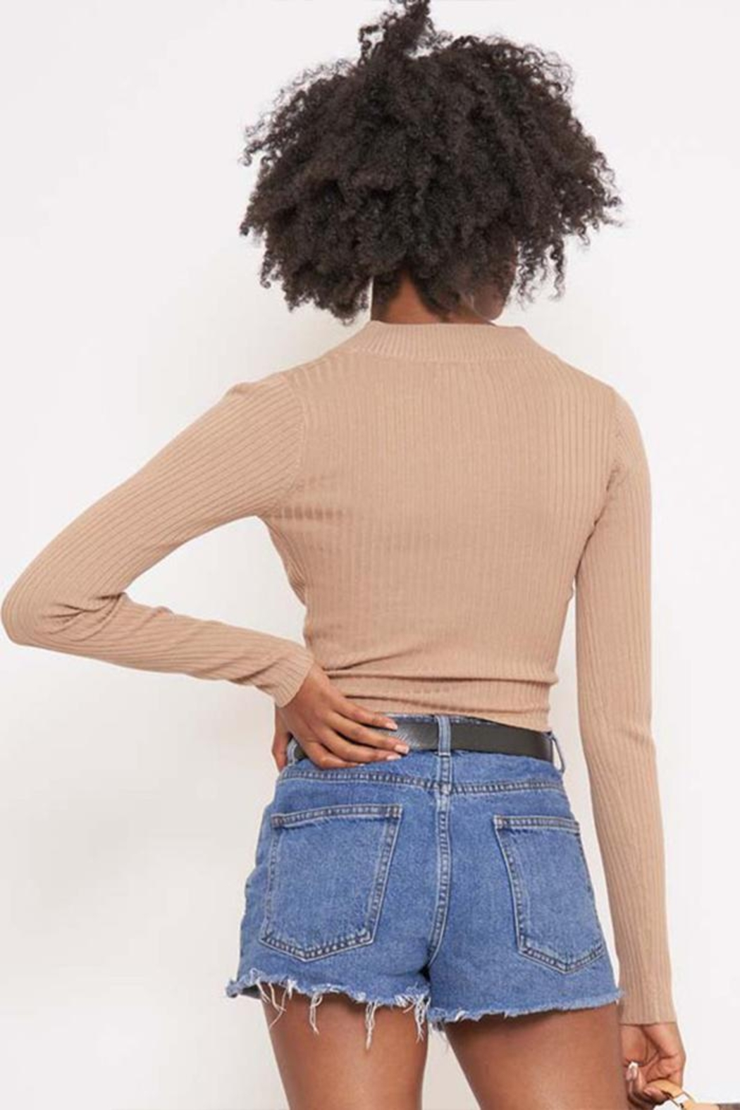 Better Be Long Sleeve Ribbed Top - Side Cropped Image
