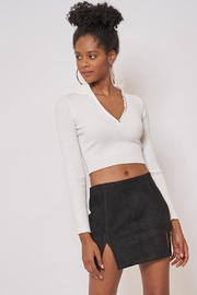 Better Be Long Sleeve Ribbed Top - Front cropped