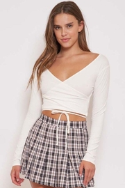 Better Be Long Sleeve Wrap Crop Top - Product Mini Image
