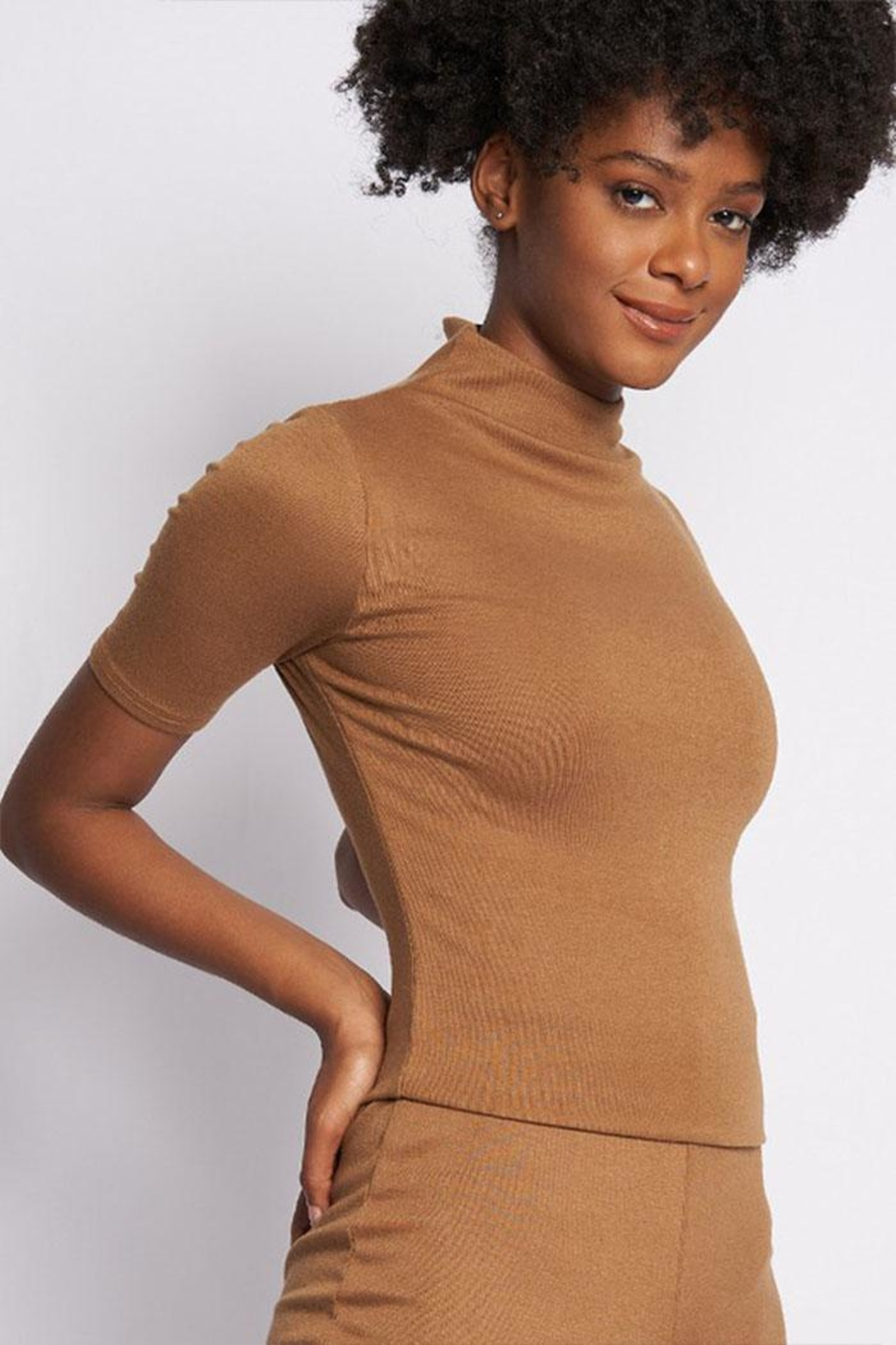Better Be Mock-Neck Knit Top - Front Cropped Image
