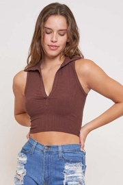 Better Be Nichola Collar Sleeveless Top - Front cropped