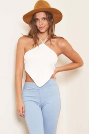 Better Be On Clouds Yoko Knitted Halter Top - Product Mini Image