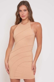 Better Be Piping Lettuce Halter Dress - Side cropped