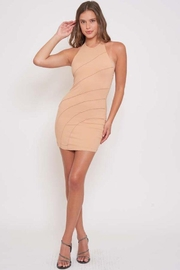 Better Be Piping Lettuce Halter Dress - Front cropped